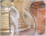 Schody drewniane balustrady